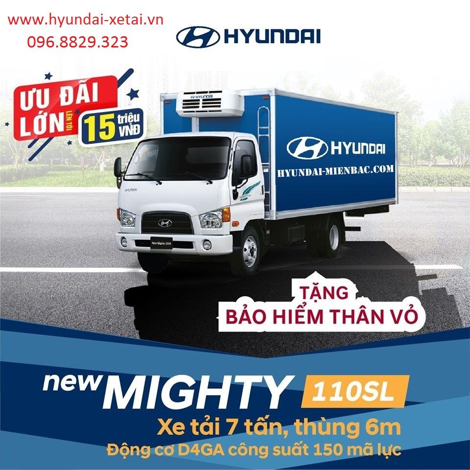 Hyundai 7Tấn HD110SL dài 6~M